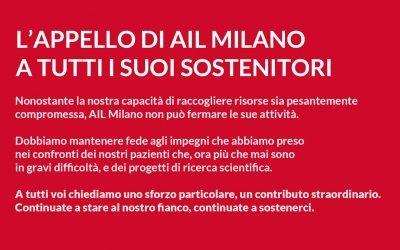 AIL Milano continua ad esserci, per i pazienti in difficoltà e per l'Ematologia cittadina