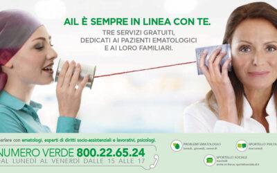 AIL sempre in linea: il numero verde per i pazienti